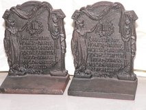 Antique Cast Iron Book Ends in Okinawa, Japan