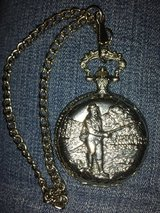 Riviera Quartz Pocket Watch Fishing Design in Aurora, Illinois