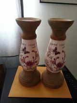 PIER 1 SANDSTONE CANDLE HOLDERS in Yucca Valley, California