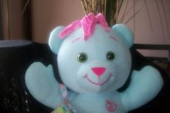 doodle bear purse 16 & quot; blue  draw on me 2005 stuffed animal toy   (T=17) in Clarksville, Tennessee